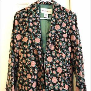 Madchen Velvet Floral Blazer